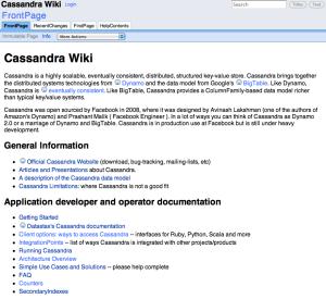 Cassandra Wiki